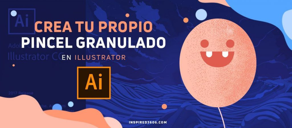 pincel granulado en Illustrator